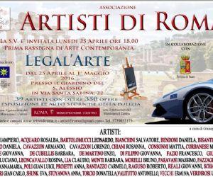 La prima rassegna di arte contemporanea dell'associazione Artisti di Roma nel giardino del Sant'Alessio