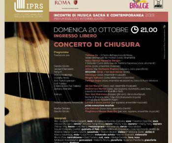 Concerti - Concerto conclusivo degli 'Incontri di Musica Sacra e Contemporanea'