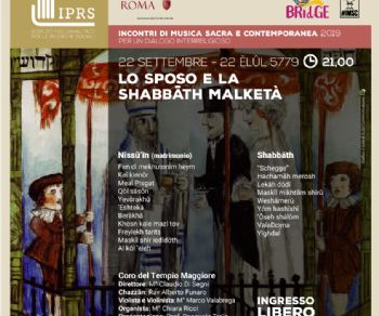 """Concerti - Lo Sposo e """"la"""" Shabbat Melkatà"""