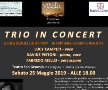 Concerti - Trio in Concert | Lucy Campeti - Davide Pistoni - Fabrizio Aiello | Soul, Blues & Pop