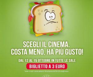 Dal 12 al 15 ottobre vai al cinema con 3,00 euro
