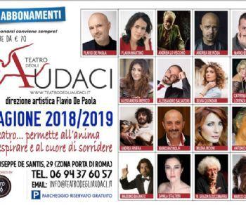 Il direttore artistico Flavio De Paola annuncia la sesta stagione al Teatro degli Audaci