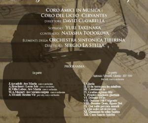 Coro Amici in Musica e Coro del Liceo Cervantes a Santa MAria in Trastevere