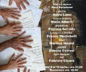 Un concerto–teatrale con la regia di Reza keradman e la partecipazione di Astra Lanz
