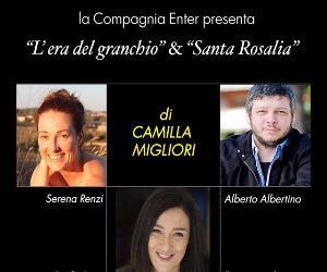 """Spettacoli: """"L'era del granchio"""" e """"Santa Rosalia"""""""