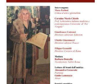 Libri - Serata in onore della scrittrice Lina Mangione Savatteri
