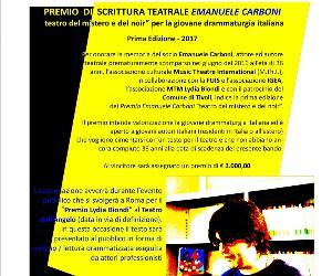 Bandi e concorsi: Premio scrittura teatrale Emanuele Carboni