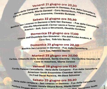 Concerti - Roma si Canta: Festival Musicale