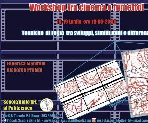 Corsi e seminari: Tra cinema e fumetto, dallo storyboard al layout