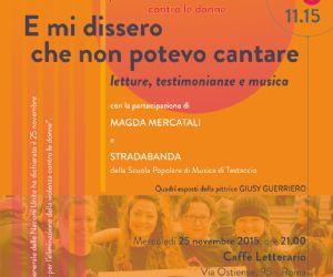Evento organizzato in occasione della Giornata Internazionale per l'eliminazione della violenza contro le donne