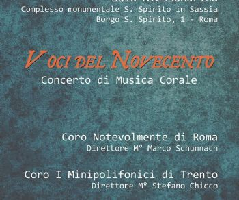 Concerti - Voci del Novecento