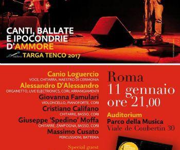 Concerti: Canio Loguercio e Alessandro D'Alessandro, Targa Tenco 2017