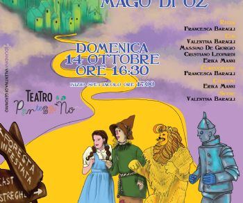 """Libero adattamento teatrale da """"Il mago di Oz"""" di Lyman Frank Baum"""