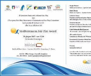 Altri eventi: Mediterranean Fair Play Award, terza edizione