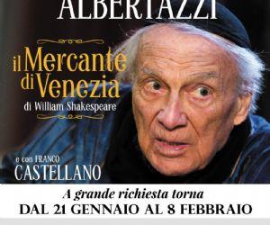 """Spettacoli: Giorgio Albertazzi  è """"Il mercante di Venezia"""""""