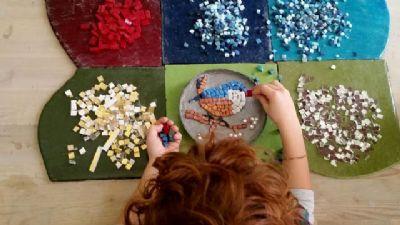 Bambini e famiglie: Giocare imparando: l'arte del Mosaico e l'agnellino di Sant'Agnese