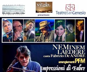 Concerti - Neminem Laedere canta Fabrizio De Andrè, arrangiamenti PFM