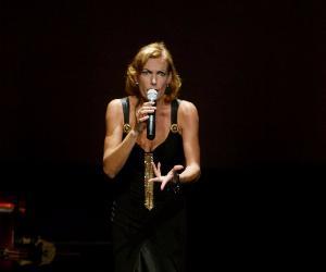 La grande cantante e artista tedesca a Roma