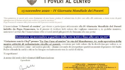 Attività - IV Giornata Mondiale dei Poveri