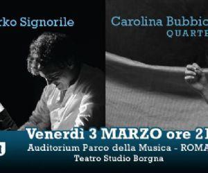 Concerti: Mirko Signorile, Redi Hasa / Carolina Bubbico Quartet in concerto all'Auditorium
