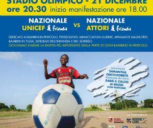 """UNICEF: al via Campagna di raccolta fondi con numero solidale 45594 """"Bambini in Pericolo"""". Il 21 allo stadio Olimpico si giocherà la """"Partita dei campioni"""""""