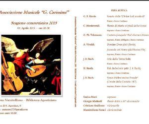 Organizzato dall'Associazione Musicale G. Carissimi