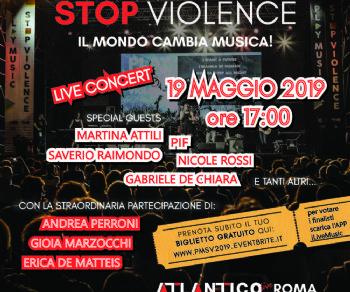Concerti - Play Music Stop Violence. Cambia il mondo con la tua musica