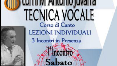 Attività - Corso di Tecnica vocale, a lezione con Antonio Juvarra