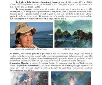 Mostra arte pittorica retrospettiva dedicata alla pittrice Giuseppina Magnini