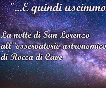 Serata astronomica osservativa a Rocca di Cave