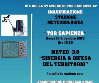 """Inaugurazione della stazione metereologiva """"Tor Sapienza"""""""