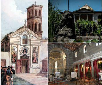 La chiesa, l'ospedale e i giardini della Pimpaccia