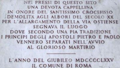 Visite guidate - Nei luoghi di San Pietro e Paolo, tra verità e leggenda