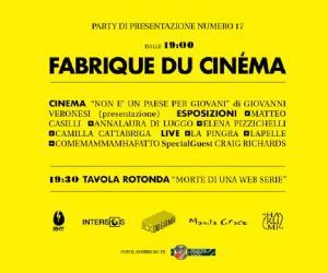 Rassegne: Fabrique du Cinéma,  la rivista dedicata al nuovo cinema italiano