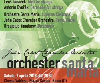 Con la John Cabot Chamber Orchestra e l'Orchester Santa Maria di Lucerna