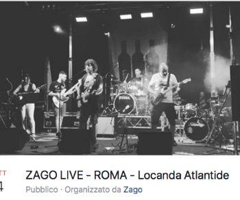 Locali - Prima esibizione per la band Zago a Roma