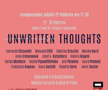 Locandina: UNWRITTEN THOUGHTS - Pensieri non scritti