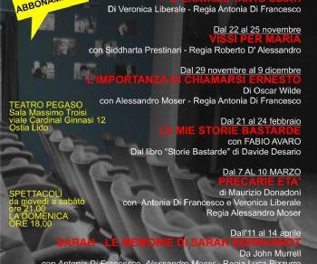Spettacoli - Apre la stagione del teatro Pegaso di Ostia con tantissime novità