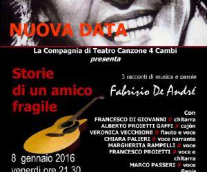 Serata dedicata a Fabrizio De Andrè