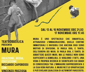 Spettacoli - Mura di Riccardo Caporossi