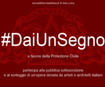 Campagna di raccolta fondi a favore della Protezione Civile dell'Accademia Nazionale di San Luca