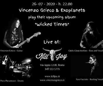 Locali: Vincenzo Grieco & Exoplanets live
