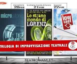Tre spettacoli diversi, ma uniti dal filo comune dell'improvvisazione teatrale