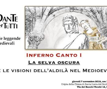 Rassegne: Dante per tutti e le leggende medievali