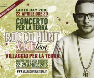 Sarà Rocco Hunt il Testimone 2016 del Concerto per la Terra di Earth Day Italia