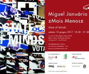 """Mostra personale di Miguel Januário, ±Mais Menos±"""""""
