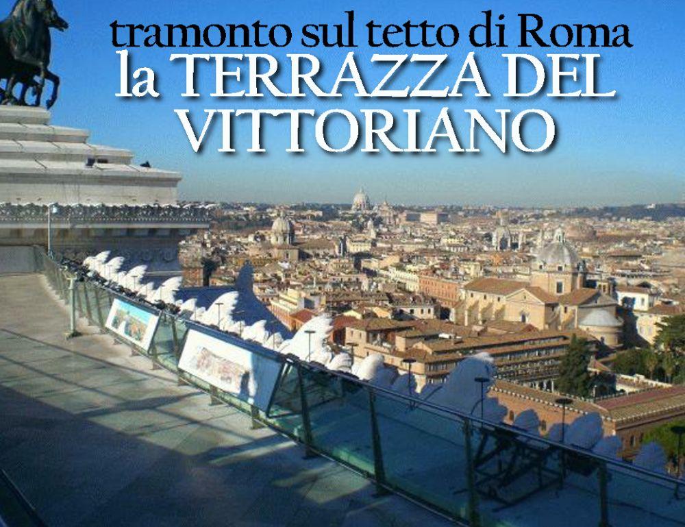 Tramonto sul tetto di Roma dalla terrazza del Vittoriano, Museo ...