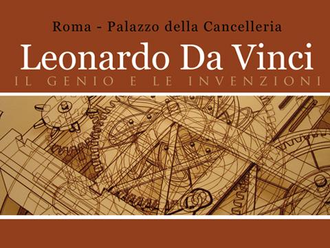 Leonardo da vinci il genio e le invenzioni palazzo della for Invenzioni di leonardo da vinci