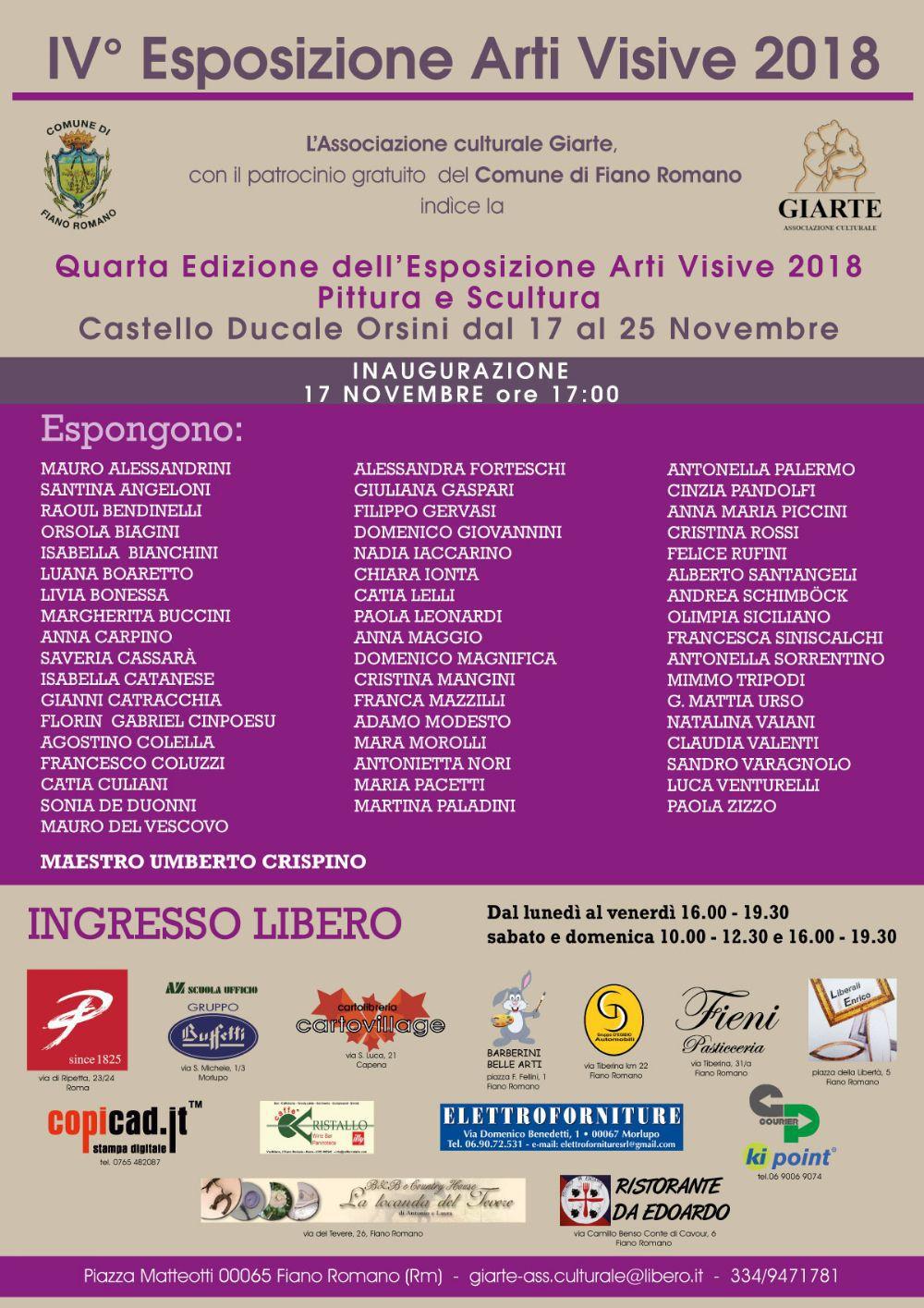 8590c26ec56c A Fiano Romano pittura e scultura in mostra