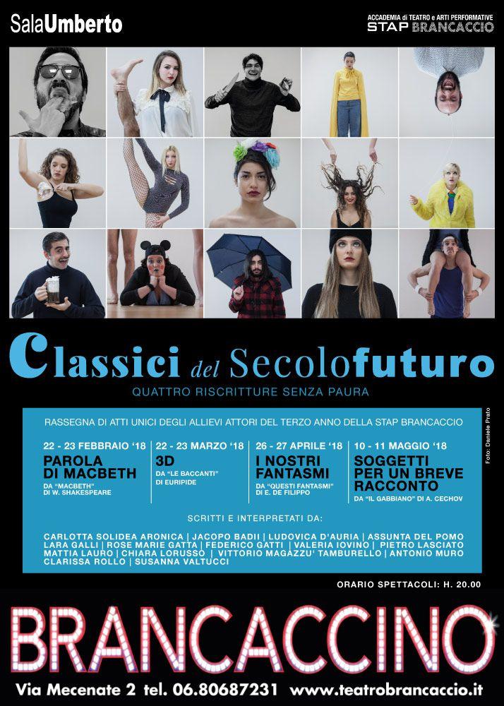 Classici del secolo futuro teatro brancaccino spettacoli for Futuro del classico
